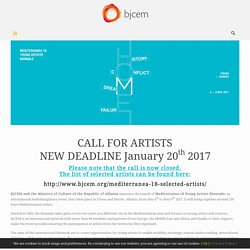 Mediterranea 18: call for artists