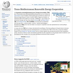 Trans-Mediterranean Renewable Energy Cooperation
