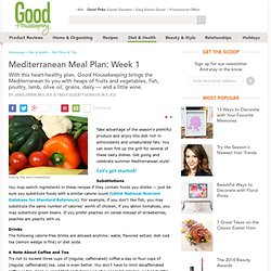 Mediterranean Meal Plan - Week 1
