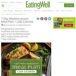 7-Day Mediterranean Meal Plan: 1,200 Calories