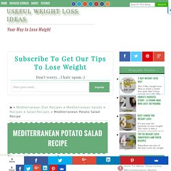 Mediterranean Potato Salad Recipe