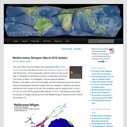 Mediterranean Refugees (March 2016 Update) - Views of the World