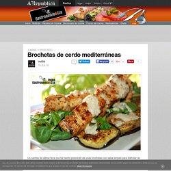 Brochetas De Cerdo Mediterráneas