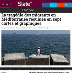 La tragédie des migrants en Méditerranée résumée en sept cartes et graphiques