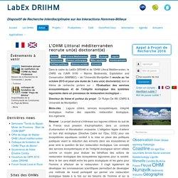 L'OHM Littoral méditerranéen recrute un(e) doctorant(e)