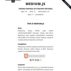Medium.js