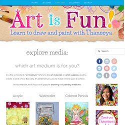 Art Medium and Art Supplies: What They Are and How to Use Them — Art is Fun
