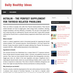 Actalin Review- All Natural Supplement