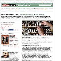 """Medizinprofessor Ernst: """"Die Homöopathie ist ein Dogma"""" - SPIEGEL ONLINE - Nachrichten - Wissenschaft"""