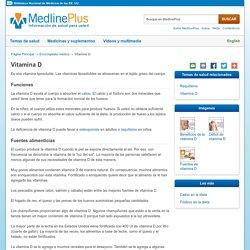 Vitamina D: MedlinePlus enciclopedia médica