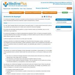 Síndrome de Asperger: Medline Plus enciclopedia médica