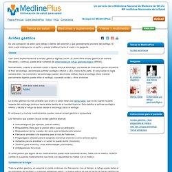 Acidez gástrica: MedlinePlus enciclopedia médica