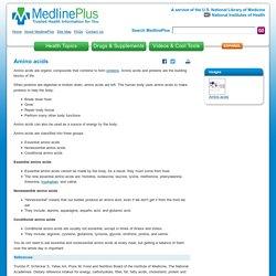 Amino acids: MedlinePlus Medical Encyclopedia