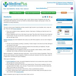 Headache: MedlinePlus Medical Encyclopedia