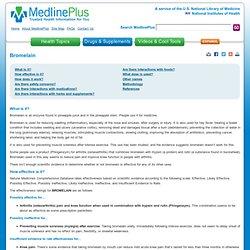 Bromelain: MedlinePlus Supplements
