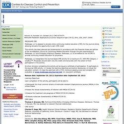 CDC EID – OCT 2012 – Methicillin-ResistantStaphylococcus aureusSequence Type 239-III, Ohio, USA, 2007–2009
