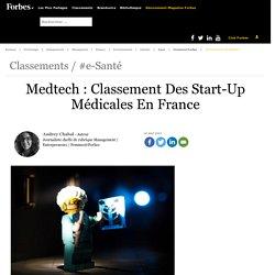 MedTech, e-santé : Classement des start-up médicales en France