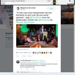 """Margriet van der Linden sa Twitter: """"''Ik heb nog nooit meegemaakt dat een Kamerlid zo grof voor de bus wordt geduwd'', zegt @ThijsBroer over het gedwongen vertrek van @ZihniOzdil bij #ditisM. #ZihniOzdil…"""