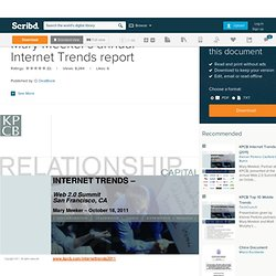 Mary Meeker's annual Internet Trends report