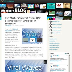 How Meeker's 'Internet Trends 2013′ Became the Most-Viral Deck on SlideShare