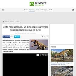 Siats meekerorum, un dinosaure carnivore aussi redoutable que le T.rex