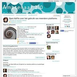 Open Koffie over het gebruik van meerdere platforms