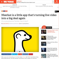 Meerkat is a little app that's turning live video into a big deal again