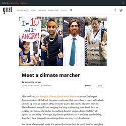 Meet a climate marcher