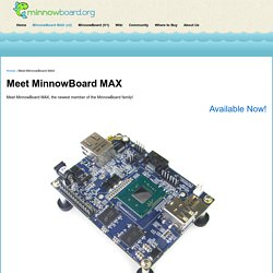Meet MinnowBoard MAX