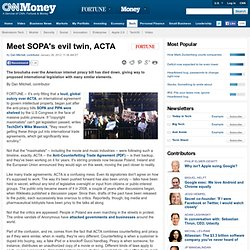 Meet SOPA's evil twin, ACTA - Big Tech