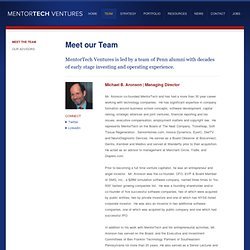 Early Stage Venture Capital Fund @ PENN | MentorTech Ventures - Our Team