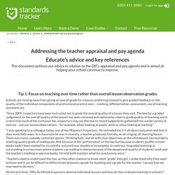 Meeting the DfE's pay and appraisal agenda - Standards Tracker