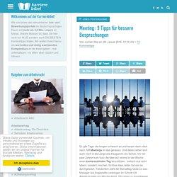 Meeting: 9 Tipps für bessere Besprechungen