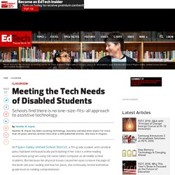 Meeting the Tech Needs of Disabled Students