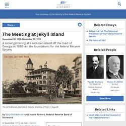 The Meeting at Jekyll Island