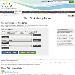 Meeting Planner Find Best Time Across Time Zones 2016 Car Release fAHCZdgg