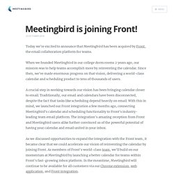 Meetingbird is joining Front!