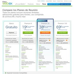 Planes de WebEx Meetings: Gratuito, Premium, Premium Plus y Enterprise