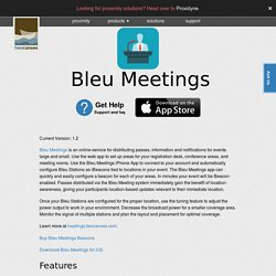 Bleu Meetings - Create & manage Passbook passes replacing meeting & event tickets