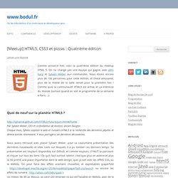 [Meetup] HTML5, CSS3 et pizzas : Quatrième édition - www.kanithael.net