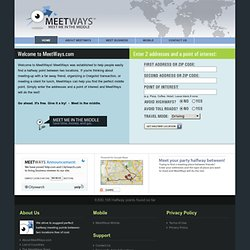 MeetWays - Find a point of interest between two addresses - Meet in the Middle