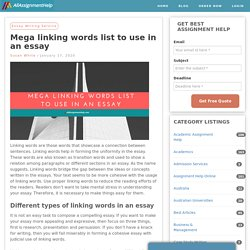 Mega linking words list to use in an essay