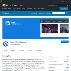 Max Mega Menu — WordPress Plugins
