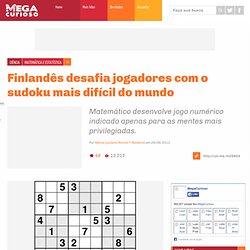 Finlandês desafia jogadores com o sudoku mais difícil do mundo
