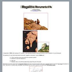 Megalithic Monuments of Mu