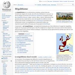 Mégalithisme