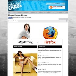 Megan Fox vs. Firefox - Celebrity Gossip