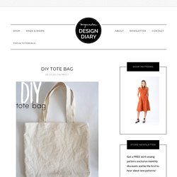 megan nielsen design diary - DIY tote bag