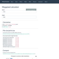 Megapixel calculator