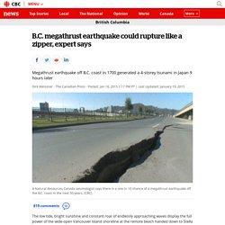 B.C. megathrust earthquake could rupture like a zipper, expert says